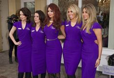 Amy Childs shows off sexy uniforms at opening of The Amy Childs beauty salon | the juice - Yahoo omg! UK
