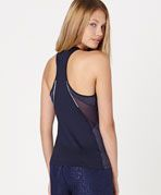 Top with side mesh detail - OYSHO