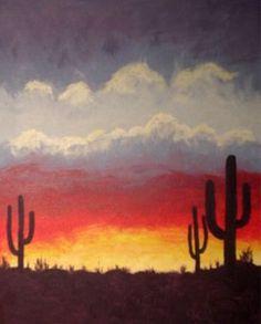 Desert Sunset at TasteVin - Paint Nite Events near San Carlos , CA>