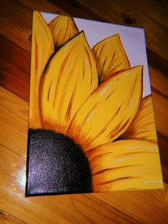 Small Canvas Paintings, Easy Canvas Art, Small Canvas Art, Cute Paintings, Mini Canvas Art, Acrylic Painting Canvas, Sunflower Canvas Paintings, Canvas Painting Quotes, Posca Art