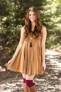 Fall Fashion, Fall Dress, Boho Dress, OOTD- Picking Pumpkins Dress by Jane Divine Boutique www.janedivine.com