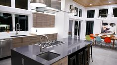 Featuring Axor Citterio kitchen faucets