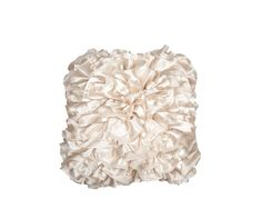 Scatter Box Satin Ruffle Natural Luxurious and Soft Feather Filled Cushion, 45 cm Scatter Cushions, Beautiful Space, Interior Accessories, Cool Gadgets, Soft Furnishings, Discount Designer, Color Splash, Modern Contemporary, Branding Design