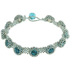 oh so pretty!  Blue Poppies Bracelet | Fusion Beads Inspiration Gallery