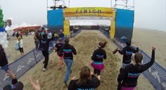 The full team, Vans 1 and 2 crossing the finish line together. #NuunHTC #HTC14 #GoPro
