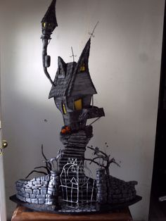 A nightmare before christmas, jacks haunted house. custom order only.. $1,000.00, via Etsy.