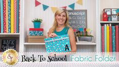 Fabric Folders Make Back To School Fun, And Are Great As Gifts For The Teacher!