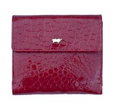 Red designer small ladies wallet  purse with a crocodile finish in a gorgeous soft leather a purse that would look good  on an evening out
