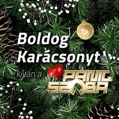 Facebook post for Paniq Szoba. Concept: logo as a christmas ornament. #christmas #facebook