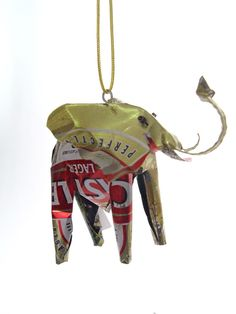Tin Elephant Ornament