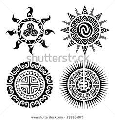 Traditional Maori Taniwha tattoo design. Editable vector illustration.