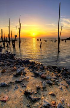 Sunset at Kuala Sungai Dedap HDR version.. by Mohd  Sabree, via 500px