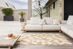 Indoor Outdoor Area Rugs, Outdoor Sofa, Outdoor Furniture, Outdoor Decor, Habitats, Rug Size, Modern, Beige, Composition