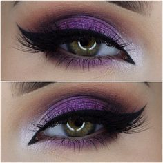 Take a look at the best purple wedding makeup in the photos below and get ideas for your wedding! Maquillage – Make up Image source LOVE this one – the drama and the shimmer and the PURPLE! Purple Wedding Makeup, Purple Eye Makeup, Love Makeup, Skin Makeup, Purple Makeup Looks, Bride Makeup, Simple Makeup, Wedding Ideas Purple, Purple Eyeshadow Looks