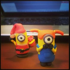 When a minion wished for Santa Minion. #clay #diy #art #models #modelling #sculpting #minions #despicable #me