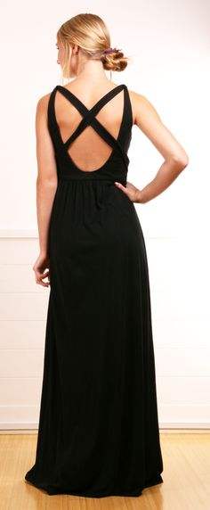 Criss-Cross Back Maxi Dress <3