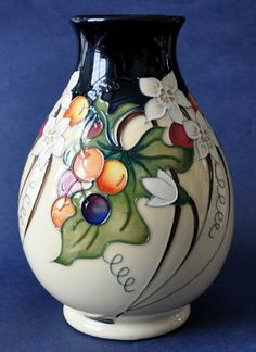 Moorcroft Pottery Briony Time 7/7  17cm in height
