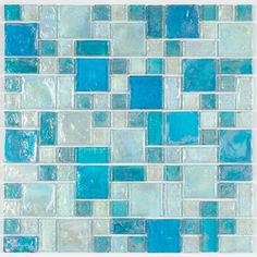 Mineral Tiles - Iridescent Glass Mosaic Tile Pale Blue Random Blend, $13.98 (http://www.mineraltiles.com/iridescent-glass-mosaic-tile-pale-blue-random-blend/)