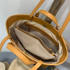 """Material: CowhideColor: Blue, Tan, WhiteDimensions: Height 11.8"""" x Width 11.4""""~13.8"""" x Depth 3.9"""" Inches Leather Totes, Leather Bag, Tote Handbags, Tote Bags, Work Tote, Shopper Bag, Black Tote Bag, Bucket Bag, Purses And Bags"""