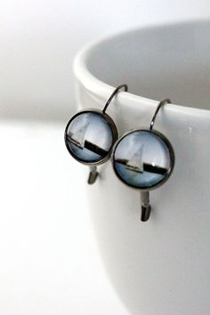 Sailboat Photo Earrings