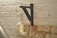 Wall Sconce White Over Brass Light Lamp Industrial by wiresNjars