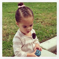 French braid bun <3 Toddler Hairstyles, Baby Girl Hairstyles, French Braid Buns, Hairdos, Savannah, Amelia, Little Girls, Bb, Braids