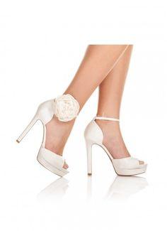 zapatos novia pura lopez flor, Pura Lopez