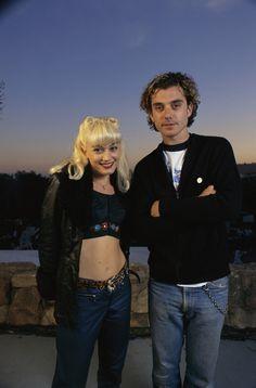 Gwen Stefani and Gavin Rossdale in Santa Barbara, 18th March 1996.