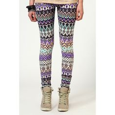 Patricia Tribal Print Leggings ($20) ❤ liked on Polyvore but I want the shoes :)