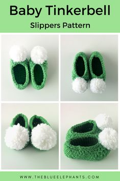 One of this week's Featured Favorites at the Link & Share Wednesday Link party is: Baby Tinkerbell Slippers Pattern by The Blue Elephants Get this free pattern right here: Crochet Baby Boots, Booties Crochet, Baby Girl Crochet, Crochet Slippers, Baby Blanket Crochet, Crochet For Kids, Baby Booties, Baby Shoes, Baby Sandals