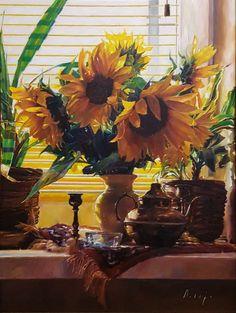 Artist by Zoltan Suhaj . Wreaths, Fine Art, Canvas, Artist, Sunflowers, Painting, Home Decor, Tela, Door Wreaths
