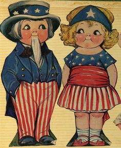 Grace Gebbie Drayton dolls -- 4th of July by The Texas Collection, Baylor University, via Flickr