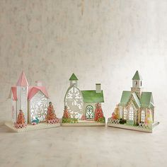 LED Light Up Pastel Easter House Collection | Pier 1 Imports
