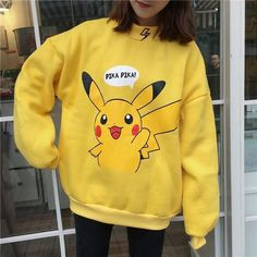 Color:pink,yellow,Size:one material:cotton.Tips: *Please double check above size and consider your measurements b Pink/yellow Pokémon printing hoodie pullover Uniqlo Style, Yellow Aesthetic Pastel, Hoodie Outfit, Kawaii Clothes, Cosplay Outfits, Korean Outfits, Hoodies, Sweatshirts, Cute Fashion