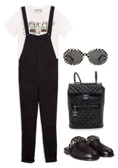 """Untitled #1147"" by elipenaserrano ❤ liked on Polyvore featuring Gucci, Zara, Chanel, Givenchy and Yves Saint Laurent"
