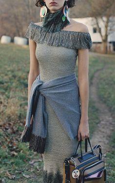 Metal Fringe Midi Dress by CHRISTOPHER KANE for Preorder on Moda Operandi