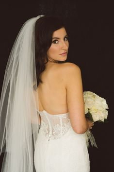20 Ways to Wear a Veil With Your Wedding Hairstyle - Whether you're sporting a formal updo or long, loose waves, here's the lowdown on wedding hairstyles with veils. down hairstyles with veils {Tyler Boye Photography} Wedding Hairstyles With Veil, Down Hairstyles, Braided Hairstyles, Hairstyle Wedding, Hairstyle Ideas, Braid Styles, Short Hair Styles, Bridesmaid Hair Half Up, Classic Wedding Hair
