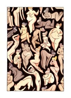 All bodies are beautiful. I love this art!