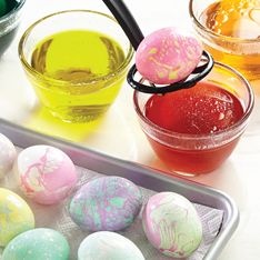 Make your Easter Eggs Eggs-ordinary when you mix different colors to make Tie-Dyed Eggs! Lots of fun and super easy, let your imagination be your guide.