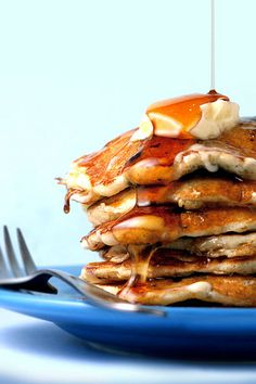 pancakes? Some Blueberry Cornmeal Pancakes? With Orange Maple Butter ...