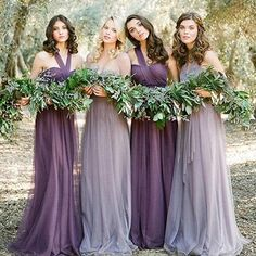 Cheap vestido madrinha, Buy Quality convertible purple bridesmaids dress directly from China purple bridesmaid dresses long Suppliers: Robe demoiselle d'honneur 2017 new tulle Convertible purple bridesmaid dress long cheap vestido madrinha Tulle Bridesmaid Dress, Wedding Bridesmaids, Bohemian Bridesmaid, Tulle Dress, Light Purple Bridesmaid Dresses, Winter Bridesmaids, Lavender Dresses, Bridesmaid Ideas, Bridesmaid Bouquet