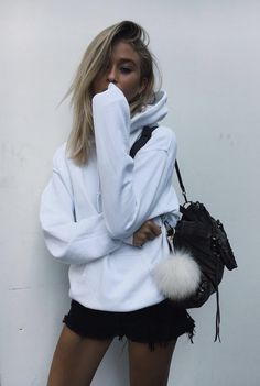 White oversized sweater.