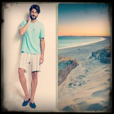 Alone at the beach... That's beautiful!  Enjoy the rest summer with your favorite 100% cottoned pyjamas http://www.vampfashion.com/index.php/collections/P971-men-s-pyjamas-100-cotton #uomodivamp #pyjamas