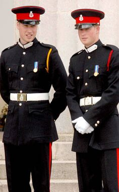Both brothers graduated from England's esteemed Royal Military Academy at Sandhurst, but who looks best as a swashbuckling stud?