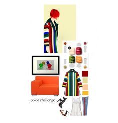 """""""Multicolored"""" by sue-mes ❤ liked on Polyvore featuring Mary Katrantzou, WALL, Kartell, Victoria, Victoria Beckham, Balenciaga, Christian Louboutin, Joico and Givenchy"""
