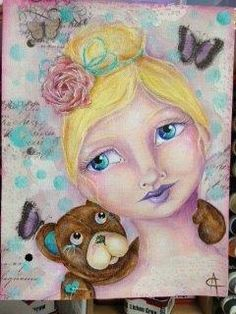 Mixed media - by Anne Cahill Brave Girl, Princess Zelda, Disney Princess, Love Painting, Art Journal Inspiration, Media Design, Art Journals, Mixed Media Art, Girl Pictures