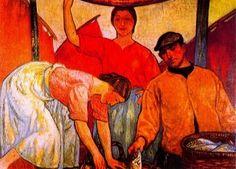 Reparto de Pescado, 1913-1915 Aurelio Arteta Spanish, Painting, Portuguese, Art History, Portrait, Contemporary Paintings, Learn To Draw, Fine Art, Basque Country