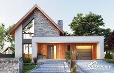 Modern House Facades, Modern House Design, Home Modern, Facade Design, Architecture Design, Pavilion Architecture, Sustainable Architecture, Residential Architecture, Bungalow Renovation