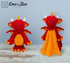 Ravelry: Felix the Baby Dragon Lovey and Amigurumi Set - patterns
