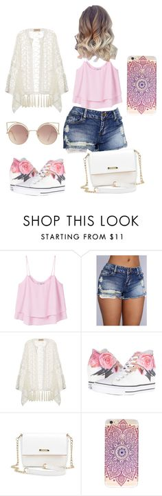 """A day out"" by kaela-baby ❤ liked on Polyvore featuring MANGO, ADRIANA DEGREAS and Converse"